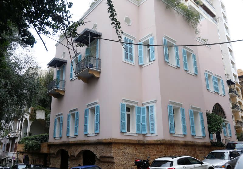 A view of a house that is believed to belong to Carlos Ghosn in Beirut