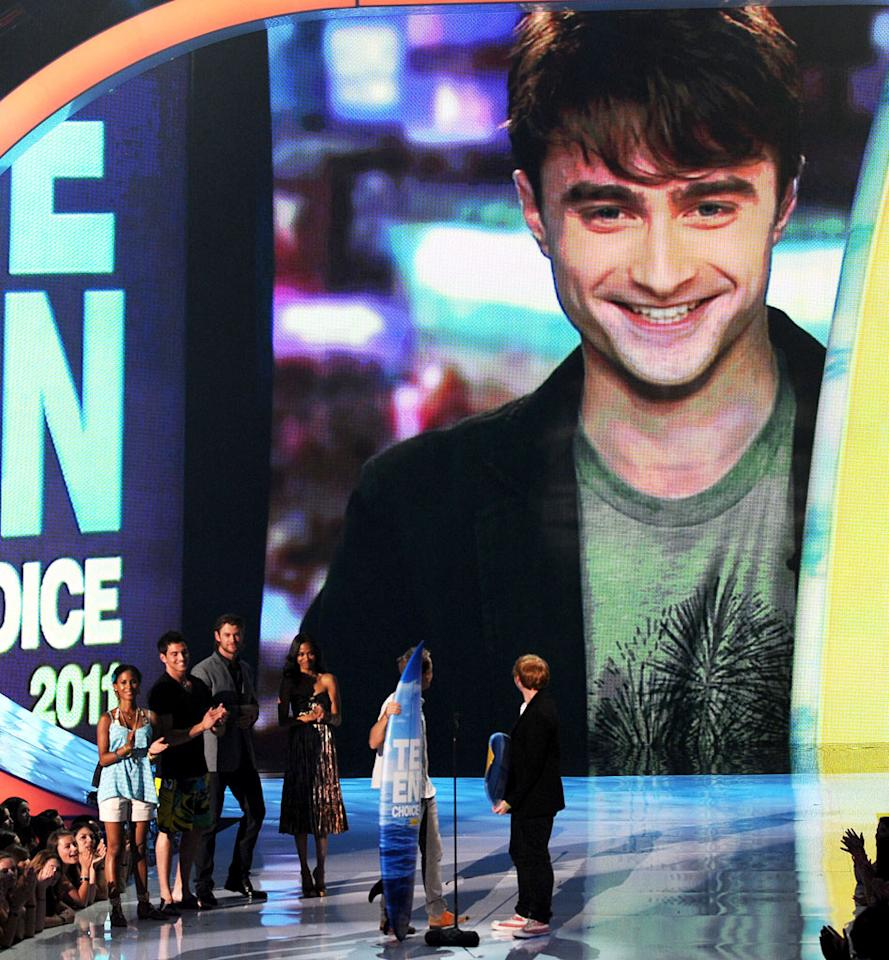 """BEST: After All This Time — The tribute to the Harry Potter series was a nice thing for the TCAs to do, because the show has pretty much revolved around """"Twilight"""" ever since those movies came out. To acknowledge HP was not something they had to do, but they did it, anyway. The video montage was very sweet (the kids at their first screen test!), too. It really has been a long journey, and at the awards show where """"Twilight"""" wins everything, it was good to see the original nerds reign supreme, if only for a moment. Rupert Grint and Tom Felton were adorable in their speeches, and Daniel Radcliffe phoning it in from New York to tease Tom about Quidditch made us strangely proud. Like Radcliffe said, """"It has been an absolute dream."""""""