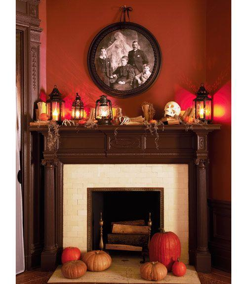 """<p>Don't splurge on a frame to create this haunted portrait. A plastic ceiling medallion from <span class=""""redactor-unlink"""">Amazon</span> will be cheaper, look just as good as the real thing. </p>"""