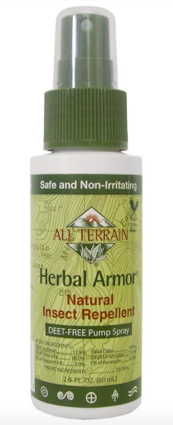 All Terrain, Herbal Armor, Insect Repellant DEET-Free Pump Spray, 60ml. PHOTO: iHerb