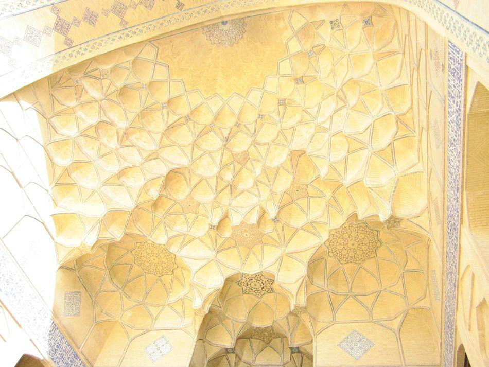 Golden honey comb dome of Masjid-e Atigh