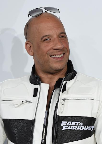 Actor Vin Diesel, pictured here at the premiere of 'Furious 7' in Hollywood, California on April 1, 2015, has 92 million fans on Facebook, eclipsing bigger names such as Tom Cruise (8.9 million) or Leonardo DiCaprio (12 million) (AFP Photo/Mark Ralston)