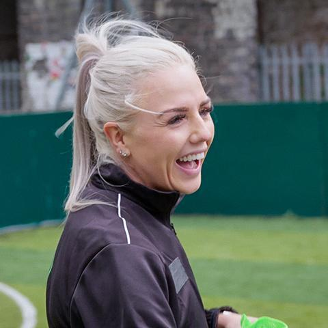 Alex Greenwood has been helping promote women's participation in football