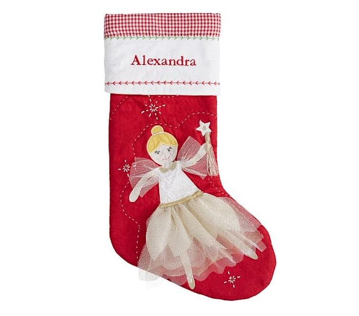 Blonde Hair Fairy Quilted Stocking