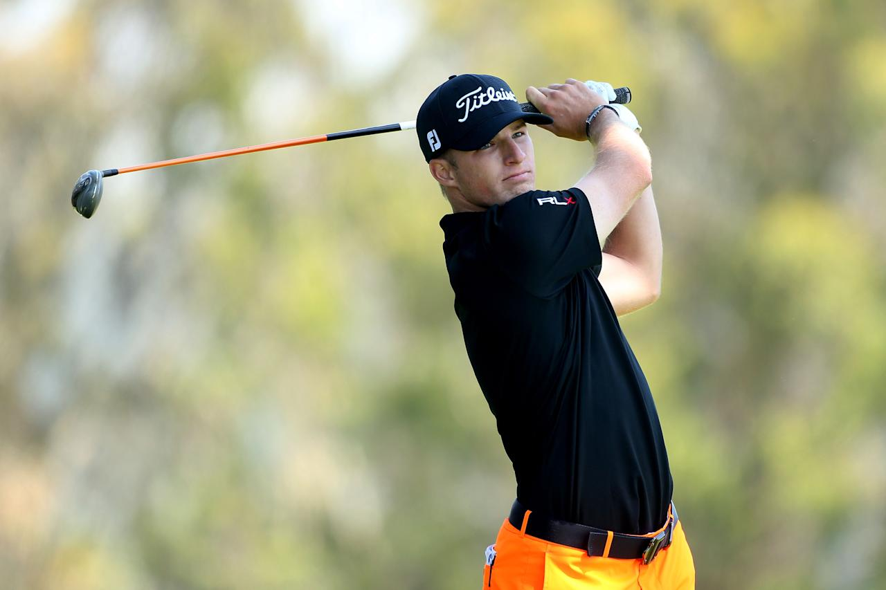 SAN FRANCISCO, CA - JUNE 16:  Morgan Hoffmann of the United States hits his tee shot on the second hole during the third round of the 112th U.S. Open at The Olympic Club on June 16, 2012 in San Francisco, California.  (Photo by Andrew Redington/Getty Images)