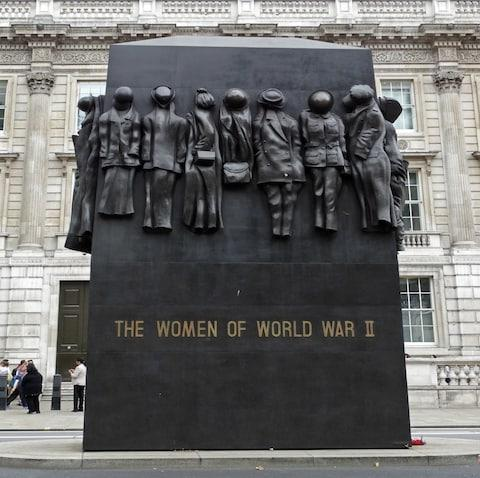 The Monument to the Women of World War II - Credit: getty