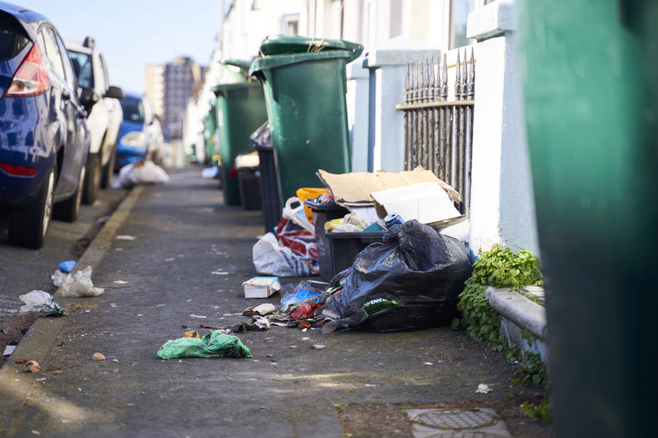Rubbish could go uncollected from homes if bin men go on strike. (Getty/stock photo)