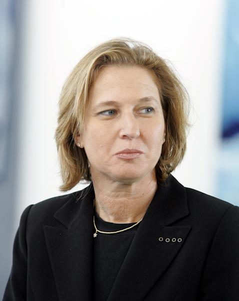 FILE - In this Aug. 28, 2006 file photo, former Israeli Foreign Minister Tzipi Livni, is seen during her visit in the Chancellory in Berlin. Livni is expected to announce her return to Israeli politics on Tuesday, Nov. 27, 2012. (AP Photo/Franka Bruns, File)