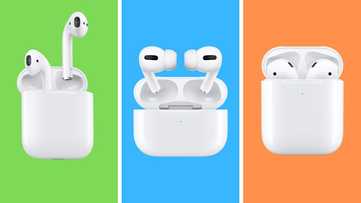 The three faces of Apple AirPods—all amazing and all on sale. (Photo: Apple)