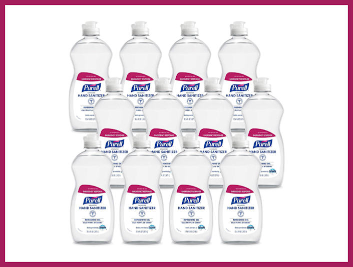 Purell Hand Sanitizer (12-pack), 12.6-Ounce Flip-Cap Bottles. (Photo: Amazon)