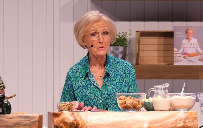 BIRMINGHAM - NOVEMBER 30: Mary Berry at the BBC Good Food Show Winter 2019 held at the NEC on November 30, 2019 in England. (Photo by MelMedia/Getty Images)