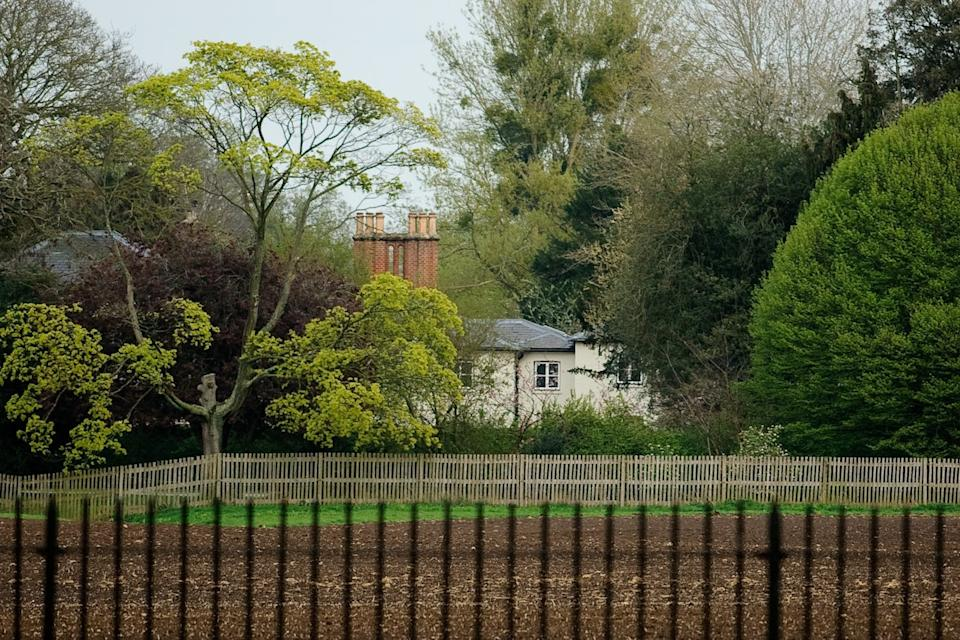 Frogmore Cottage , where Prince Harry and Duchess Meghan of Sussex live when they are in the United Kingdom, on April 10, 2019, on the sprawling Windsor Castle estate in Windsor west of London.