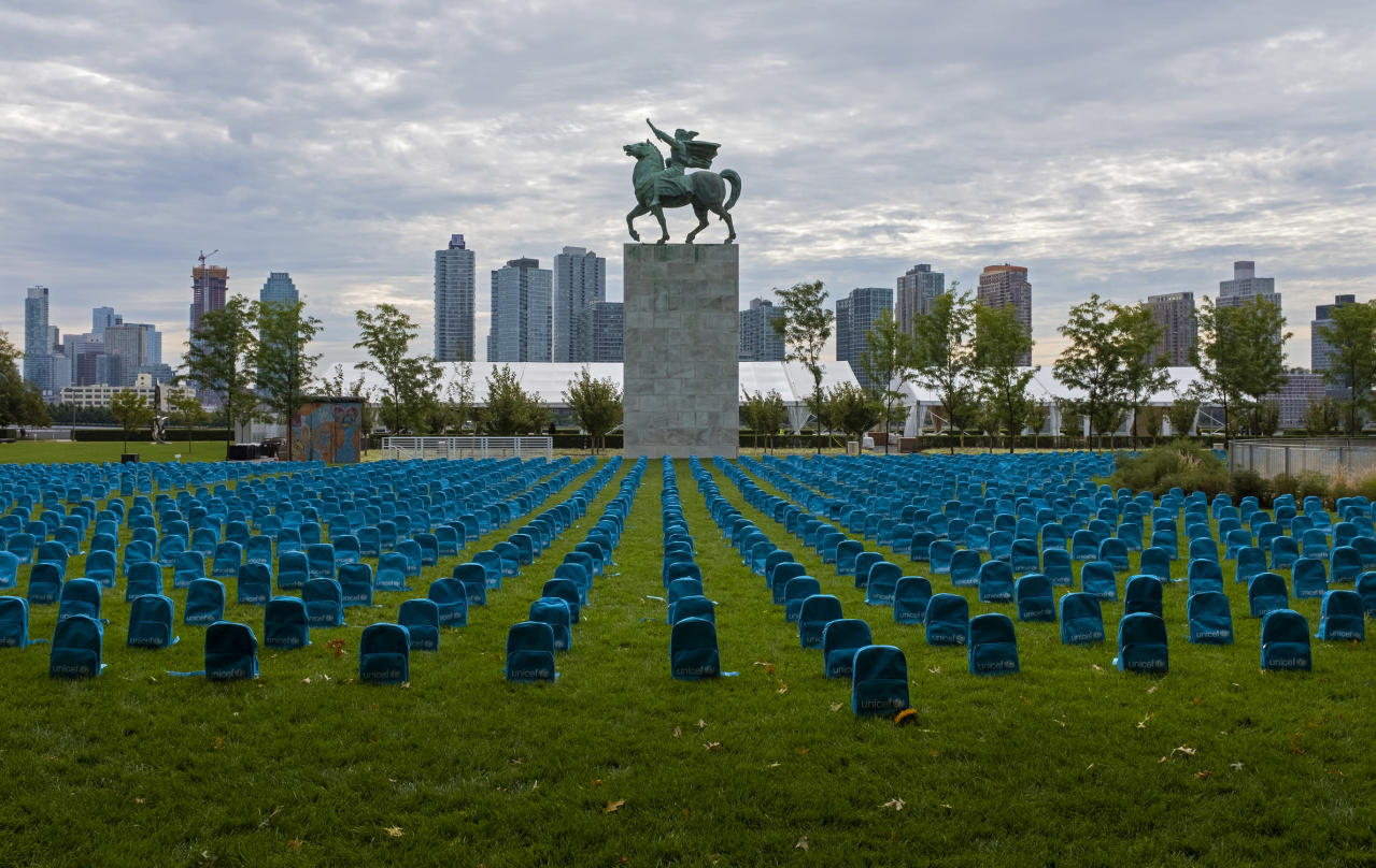 Photo of UN company lays backpacks for each little one killed in battle