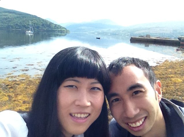 The couple during a trip to Scotland.