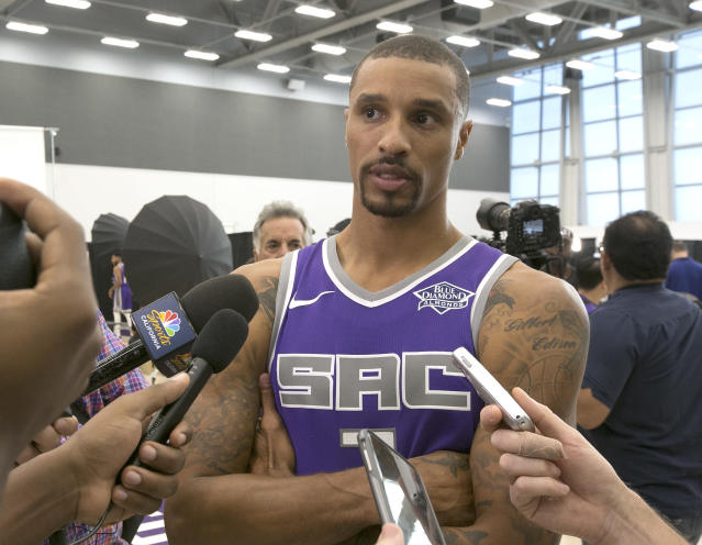 George Hill has been linked to the Cavaliers for two weeks. (AP)
