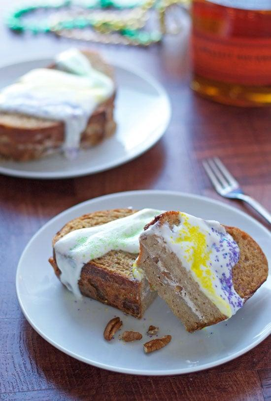 """<p>Enjoy king cake like you've never enjoyed it before when you recreate this french toast recipe. Cream cheese, toasted pecans, and bourbon are the star of the show, along with a creamy glaze that coats it all. Just add sprinkles.</p> <p><strong>Get the recipe</strong>: <a href=""""https://www.wellplated.com/mardi-gras-king-cake-french-toast/"""" class=""""link rapid-noclick-resp"""" rel=""""nofollow noopener"""" target=""""_blank"""" data-ylk=""""slk:Mardi Gras king cake french toast"""">Mardi Gras king cake french toast</a></p>"""