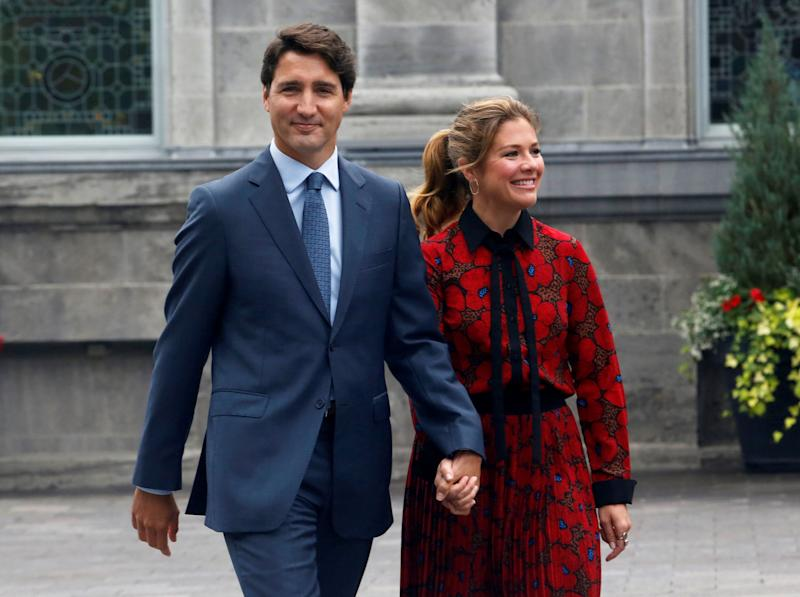 Prime Minister Justin Trudeau and his wife Sophie Gregoire Trudeau leave Rideau Hall in Ottawa on Sept. 11, 2019.  (Photo: Patrick Doyle / Reuters)