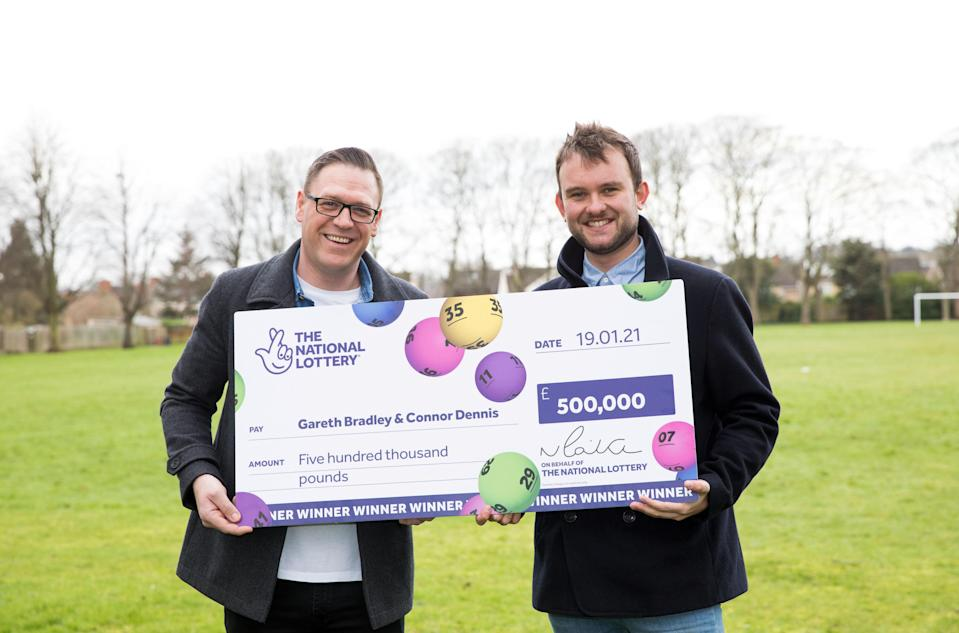 The couple have set aside a lump sum to pay off their mortgage. (National Lottery/ PA)