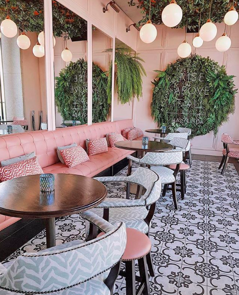<p>It has a pink-themed interior that makes it popular choice for those wanting a colourful shot. <br />Source: Instagram/Hacienda </p>