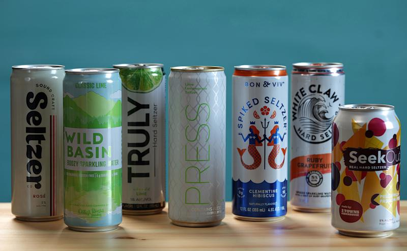 By every metric, and no matter who is calculating the data, the growth of hard seltzer has been astounding. Sales are up 210% in the past six months. (Abel Uribe/Shannon Kinsella/Chicago Tribune/TNS via Getty Images)