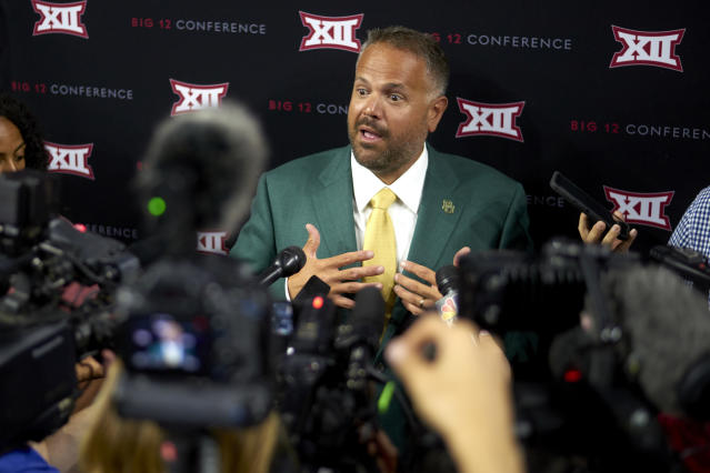 Baylor head coach Matt Rhule went 1-11 in his first year at Baylor. (AP Photo/Cooper Neill)