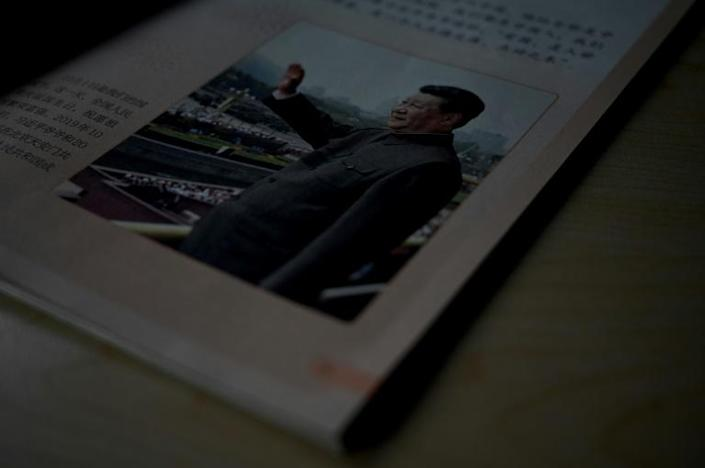 China has introduced 'Xi Jinping thought' in new school textbooks for children as young as seven (AFP/Noel Celis)