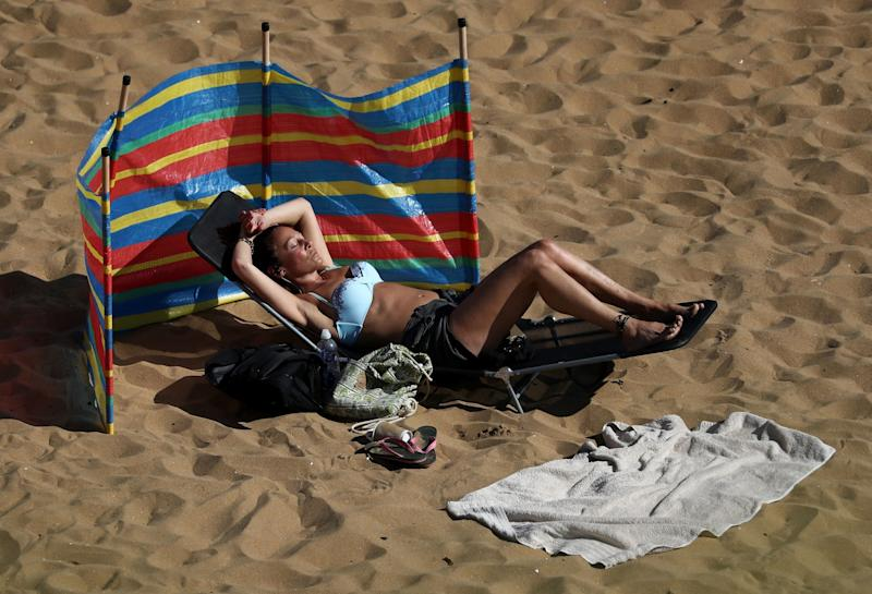 People enjoy the sunny weather in Broadstairs, Kent. (PA)