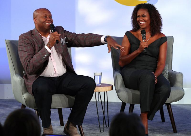 Michelle Obama's only sibling, brother Craig Robinson, appeared on her podcast. (Photo: Terrence Antonio James/Tribune News Service via Getty Images)