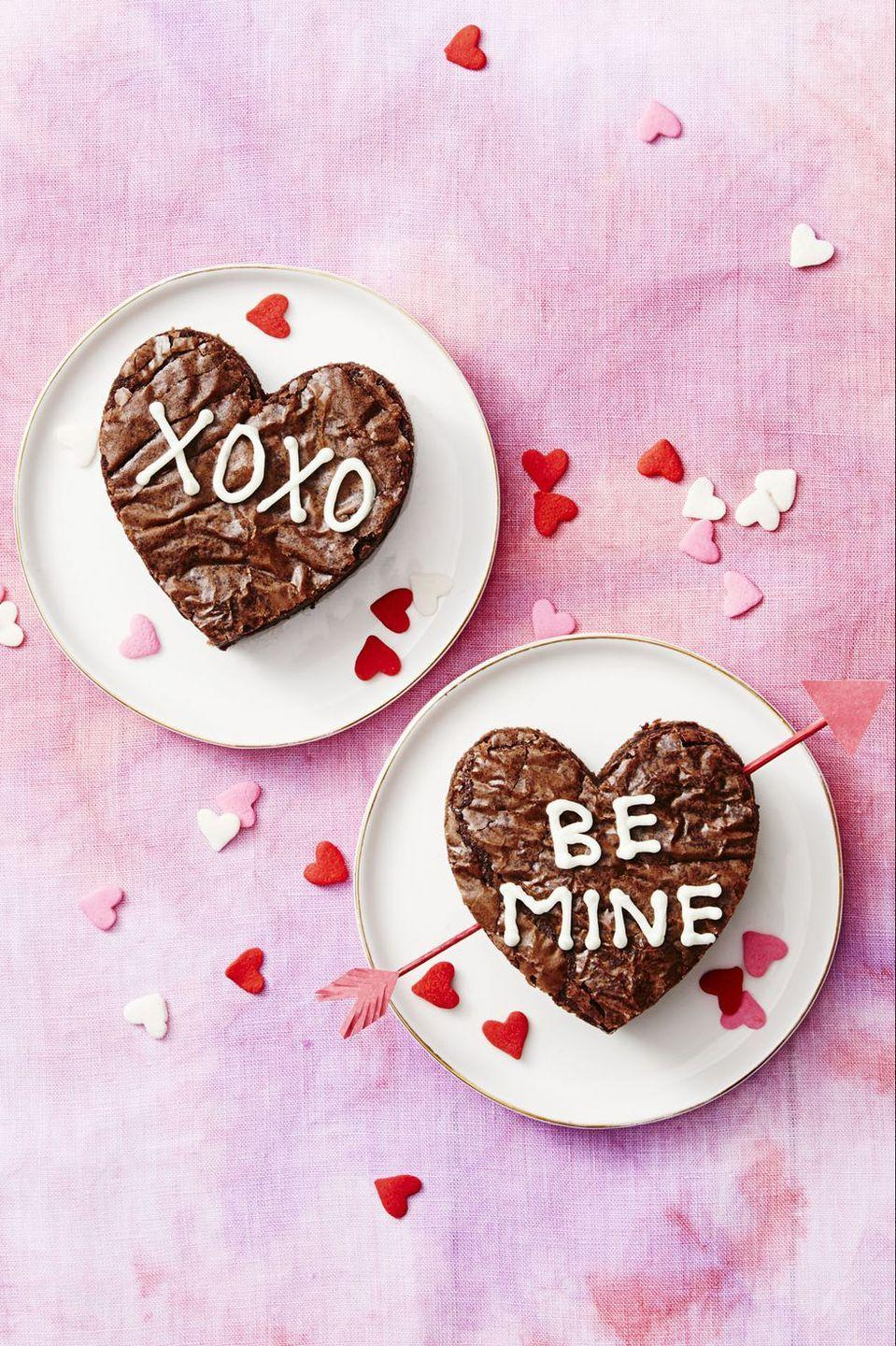 """<p>The quicker it bakes, the better it tastes (well, for these fudgy brownies at least).</p><p><em>Get the recipe for Valentine's Day Brownies »</em></p><p><strong>RELATED: </strong><a href=""""https://www.goodhousekeeping.com/food-products/g319/brownie-mix-taste-test/"""" rel=""""nofollow noopener"""" target=""""_blank"""" data-ylk=""""slk:10 Best Brownie Mixes to Try Now, According to Our Taste Test"""" class=""""link rapid-noclick-resp"""">10 Best Brownie Mixes to Try Now, According to Our Taste Test</a><br></p>"""