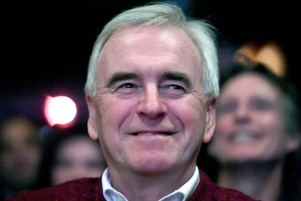 """Video footage has emerged of shadow chancellor John McDonnell promising the RMT union that it would be """"in government with us"""": PA"""
