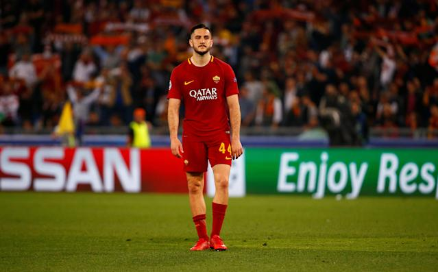 Soccer Football - Champions League Semi Final Second Leg - AS Roma v Liverpool - Stadio Olimpico, Rome, Italy - May 2, 2018 Roma's Konstantinos Manolas looks dejected after the match REUTERS/Tony Gentile
