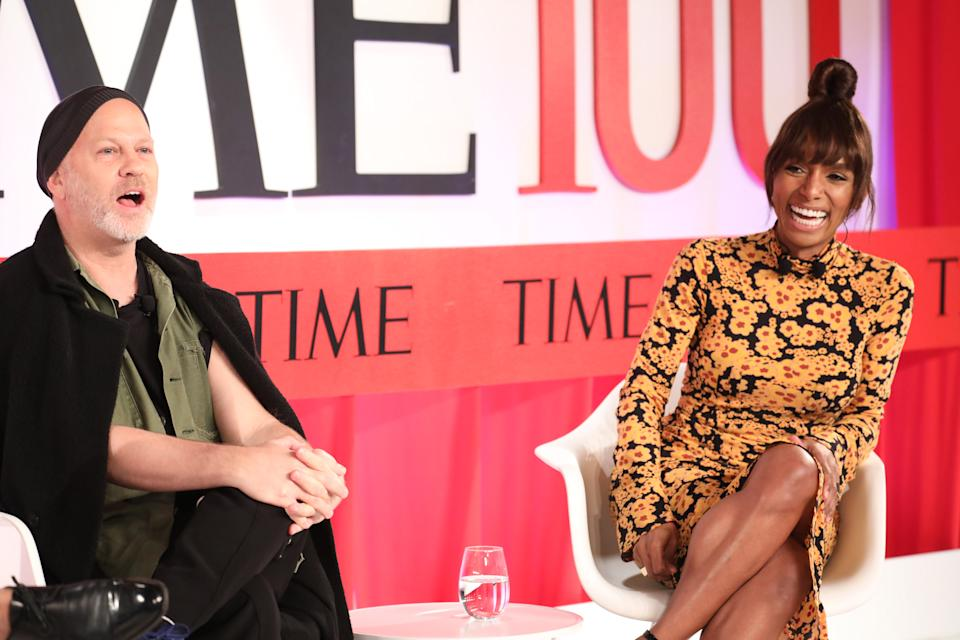 NEW YORK, NEW YORK - APRIL 23 (L-R) Ryan Murphy and Janet Mock participate in a panel discussion during the TIME 100 Summit 2019 on April 23, 2019 in New York City. (Photo by Brian Ach/Getty Images for TIME)
