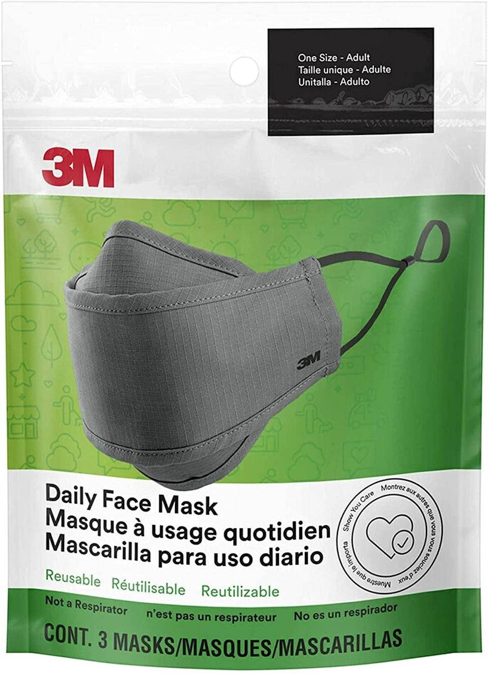 <p>This <span>3M Daily Face Mask</span> ($14) is protective and comfortable; it's a great everyday mask.</p>