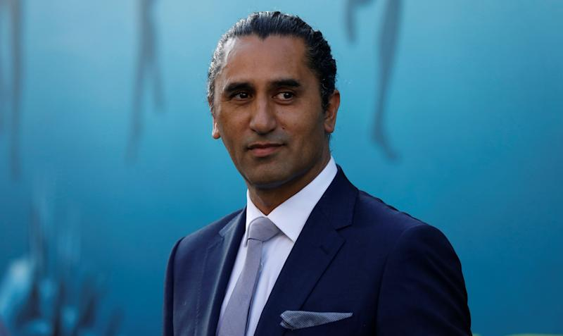 "Cast member Cliff Curtis poses at the premiere for ""The Meg"" in Los Angeles, California, U.S., August 6, 2018. REUTERS/Mario Anzuoni"