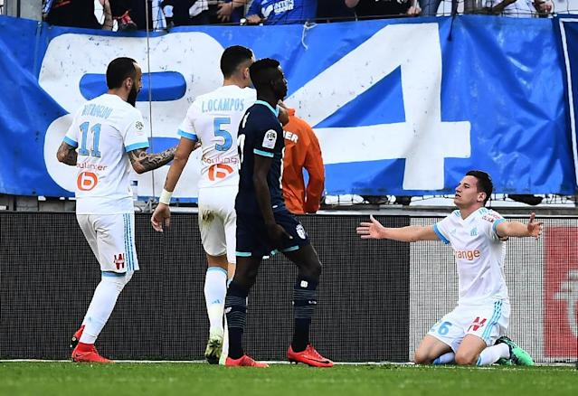 Florian Thauvin has scored a career-best 19 league goals this season, as many as Neymar at PSG (AFP Photo/ANNE-CHRISTINE POUJOULAT)