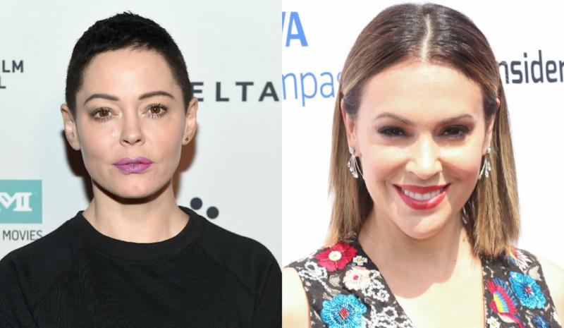 Rose McGowan Isn't OK With Alyssa Milano Supporting Harvey Weinstein's Wife