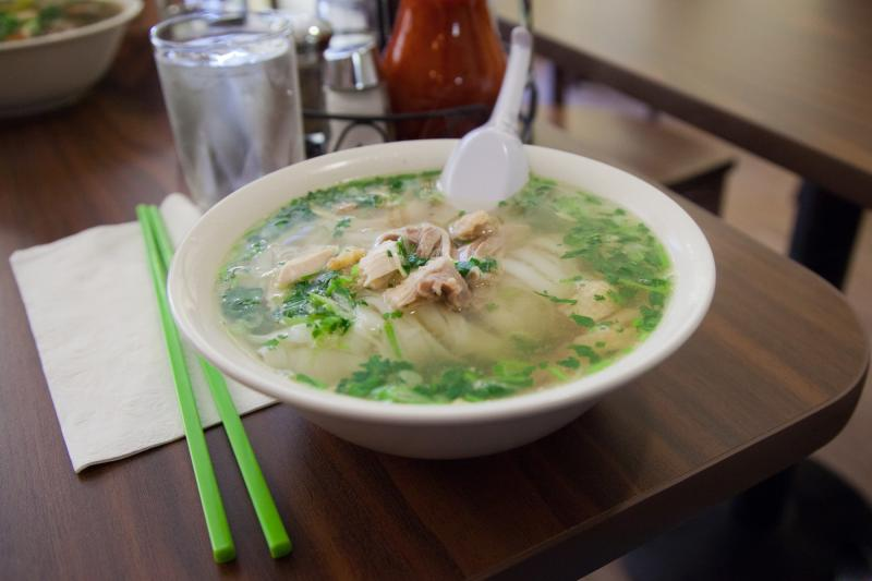 The popular pho ga at Turtle Tower.