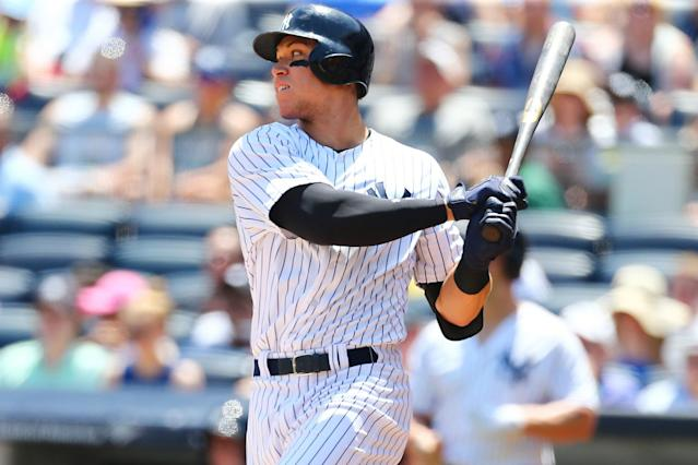 Aaron Judge's 495-foot home run on Sunday is the longest since Major League Baseball started tracking every batted ball three years ago. (Getty Images)