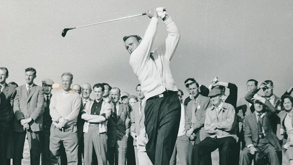 Golfer Arnold Palmer Pictured In Action In The Ryder Cup At Lythamst Annes.