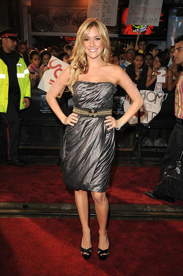 """""""Actress"""" Kristin Cavallari of """"Laguna Beach"""" fame sparkles in a metallic strapless dress upon hitting the red carpet. George Pimentel/<a href=""""http://www.wireimage.com"""" target=""""new"""">WireImage.com</a> - June 15, 2008"""