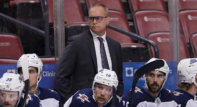 After an electric overtime period between the Maple Leafs and Jets in Toronto on Wednesday, Winnipeg's head coach Paul Maurice provided quite the description for the chaos. (Photo by Michael Reaves/Getty Images)