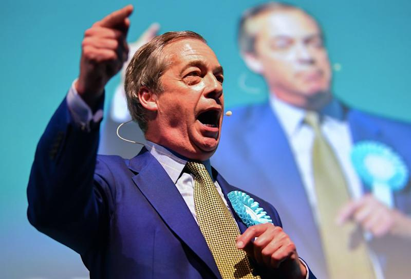 Nigel Farage's Brexit Party is tipped to win the most seats and votes in the election (Getty)