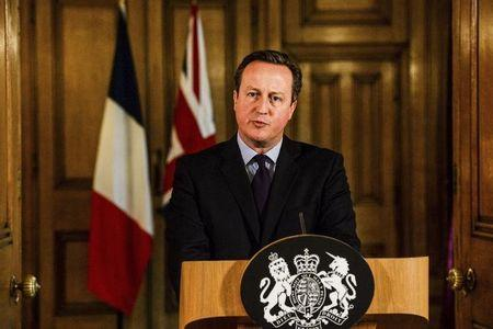 Britain's Prime Minister David Cameron delivers a statement at Number 10 Downing Street in London