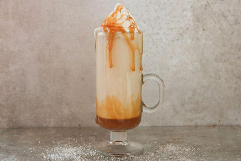 """<p>Get a little salty with your hot chocolate.</p><p>Get the <a href=""""https://www.delish.com/uk/cooking/recipes/a34104298/salted-caramel-white-hot-chocolate-recipe/"""" rel=""""nofollow noopener"""" target=""""_blank"""" data-ylk=""""slk:Salted Caramel White Hot Chocolate"""" class=""""link rapid-noclick-resp"""">Salted Caramel White Hot Chocolate</a> recipe.</p>"""