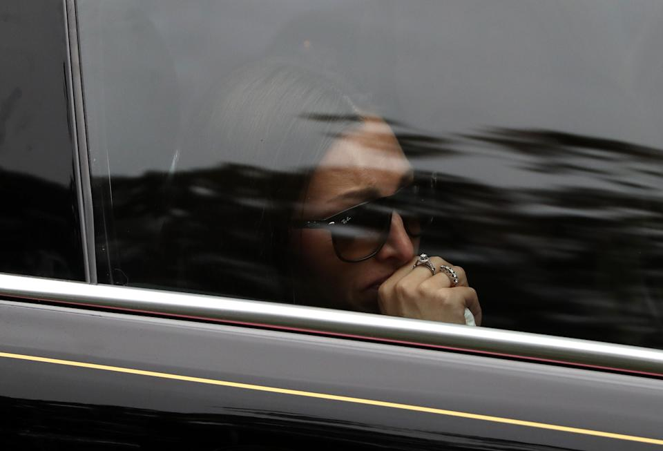 Veronika Ricksen is driven away from the church (Photo by Andrew Milligan/PA Images via Getty Images)
