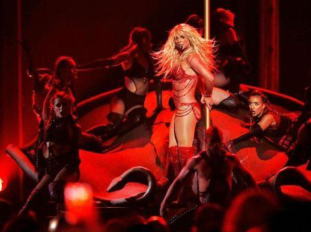 Millennium Award recipient Britney Spears performs a medley of songs at the 2016 Billboard Awards in Las Vegas