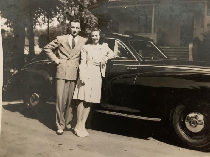 Frankie and Royce King where high school sweethearts who got engaged during WWII, just before Royce was deployed overseas. / Credit: Sue Bilodeau