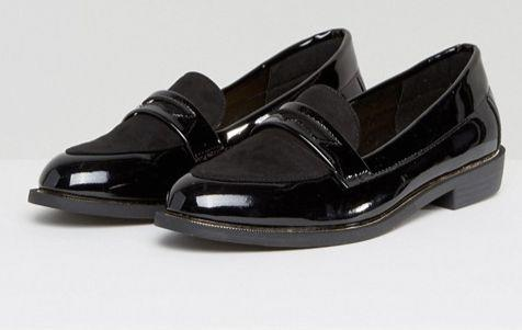 "<a href=""http://us.asos.com/new-look-wide-fit/new-look-wide-fit-metal-detail-patent-loafer/prd/7975375?clr=black&SearchQuery=loafers+women&pgesize=36&pge=0&totalstyles=131&gridsize=3&gridrow=8&gridcolumn=3"" target=""_blank"">Shop them here</a>."