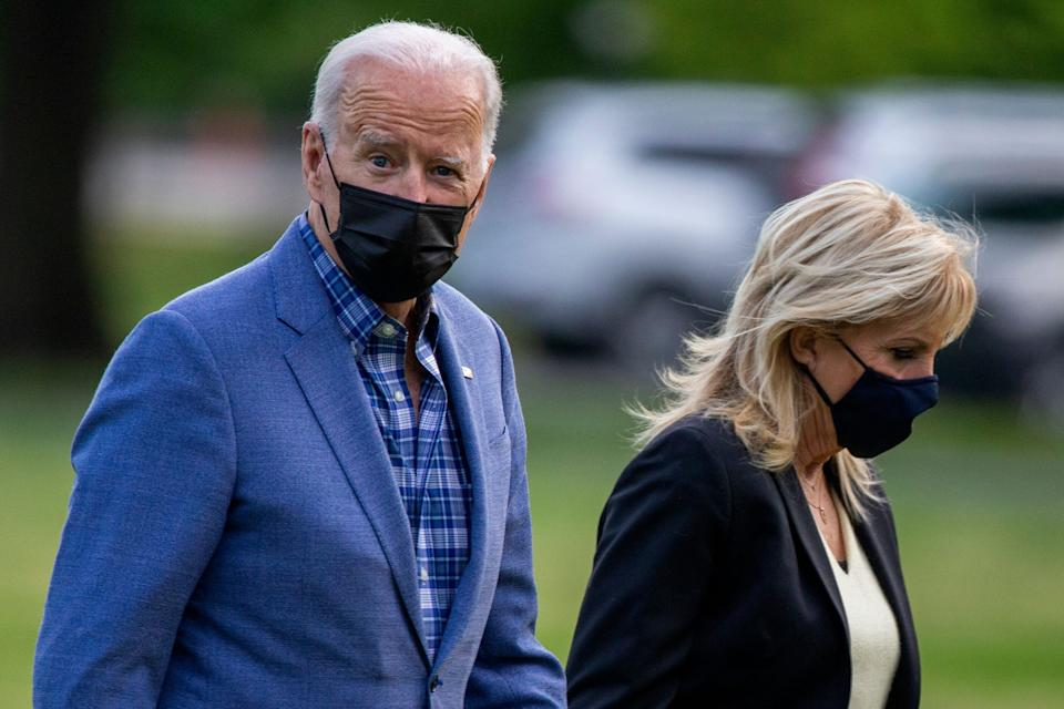 Biden made 67 false and misleading statements in his first 100 days in office, compared to 511 from Donald Trump, The Washington Post found. (Photo: Tasos Katopodis via Getty Images)