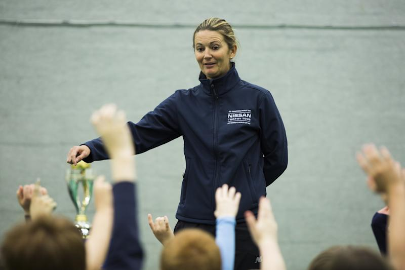 Charlotte Edwards took questions from eager schoolchildren